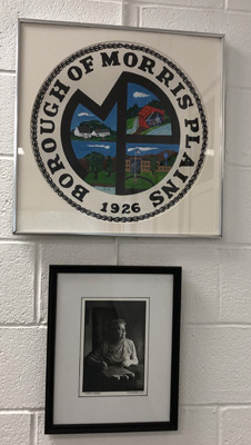 The Morris Plains Borough Seal designed by Shirley Campbell